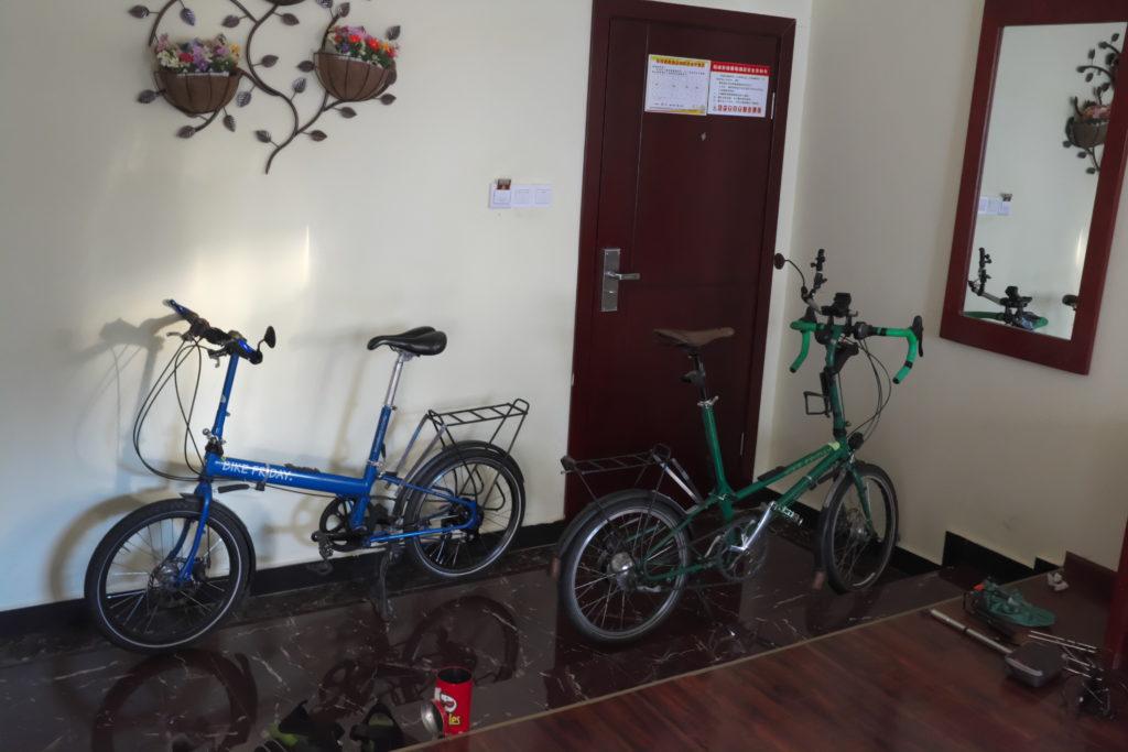Fahrrad auspacken