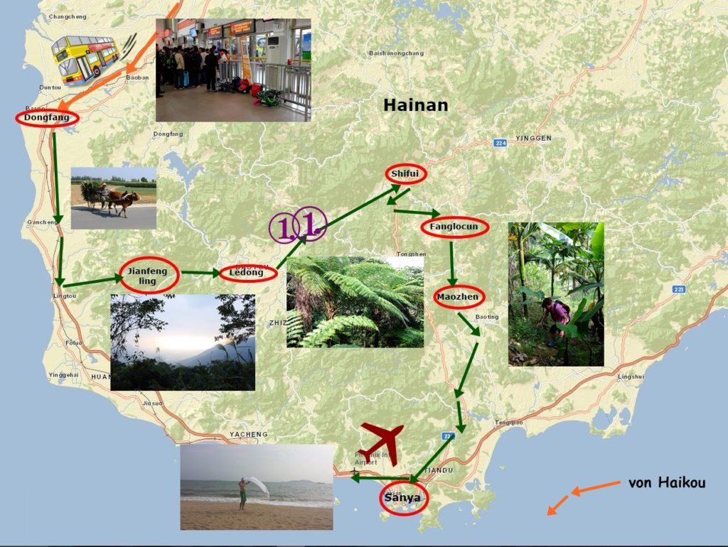 Ziel auf Hainan