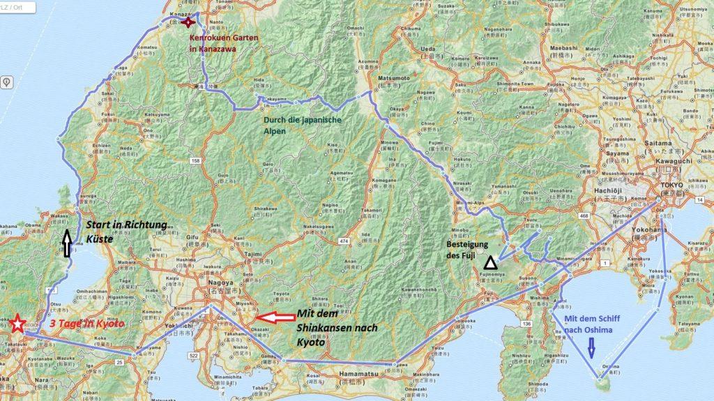 Reise Plan Japan