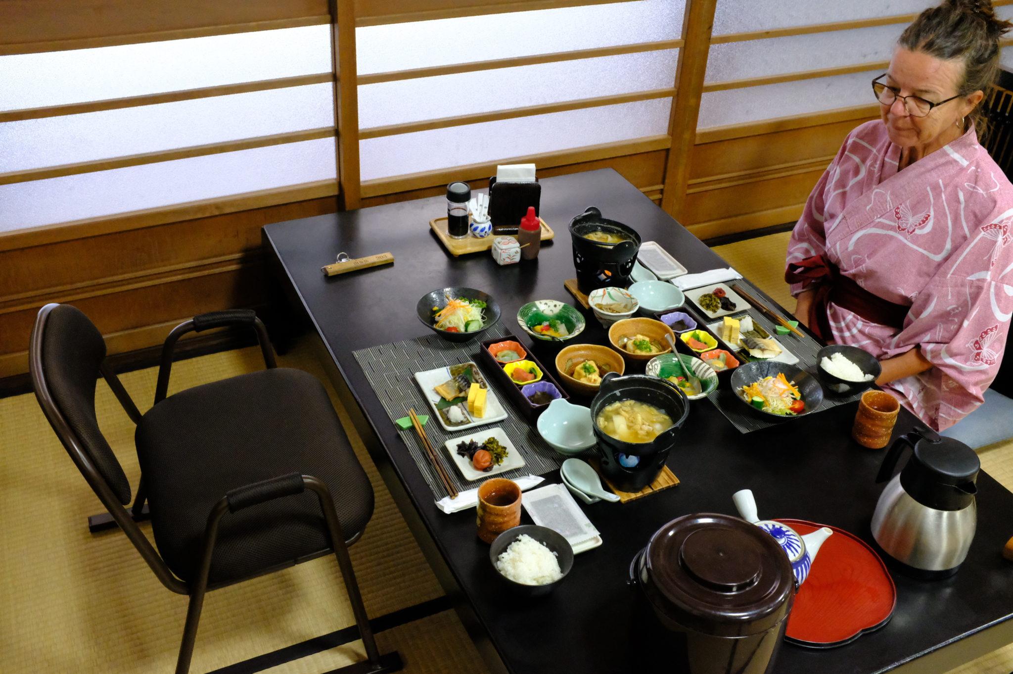 Frühstück in der Ryokan