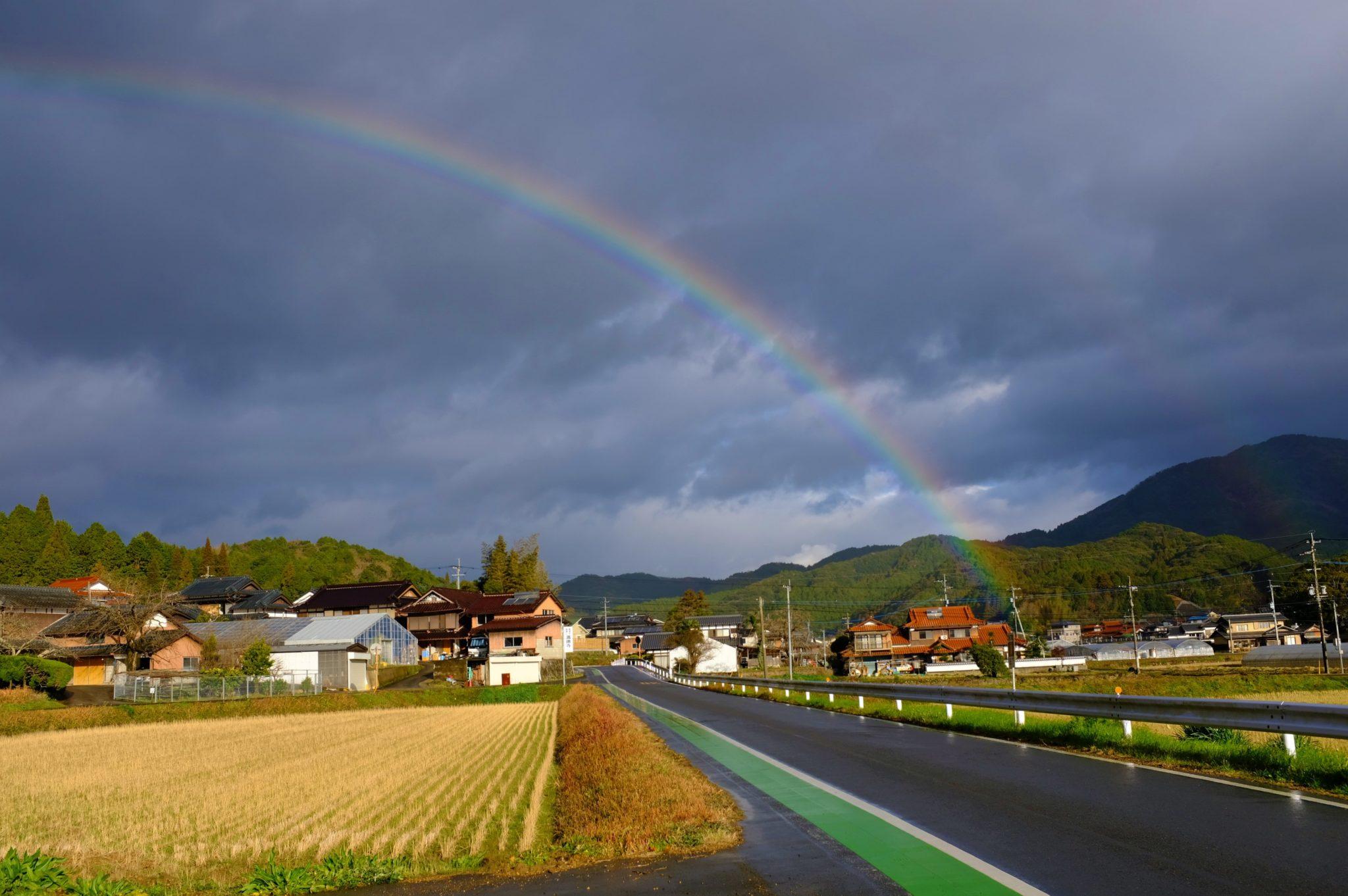 Regen, Sonne, 100 Regenbogen
